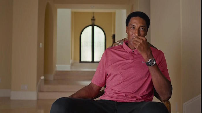 Screenshot of Scottie Pippen and his watch during 'The Last Dance.'