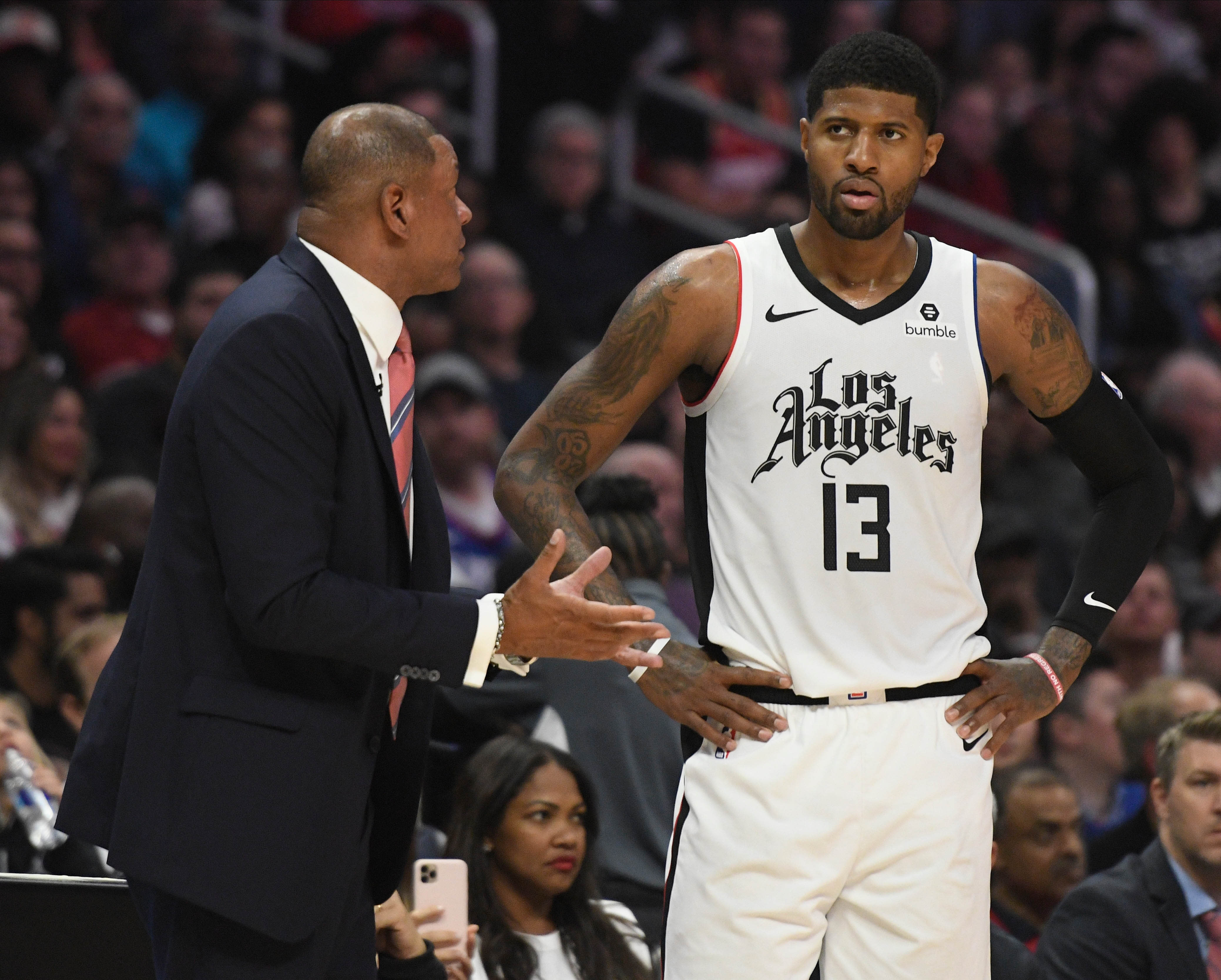 Doc Rivers Paul George Clippers Rockets Nov 2019