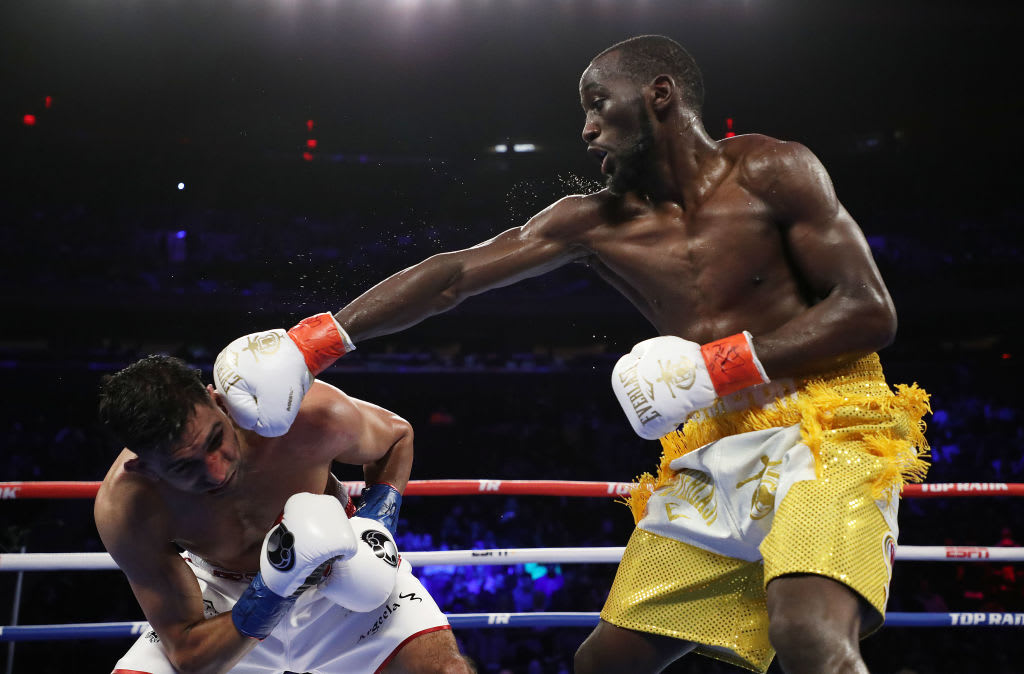 Terence Crawford Amir Khan Punch 2019 Getty