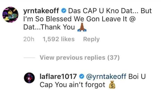 Takeoff IG comment