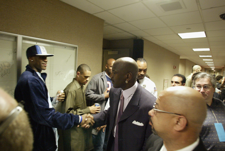 LeBron James and Michael Jordan 2003