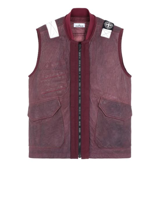 Stone Island Garment Dyed Leather Dyneema Vest