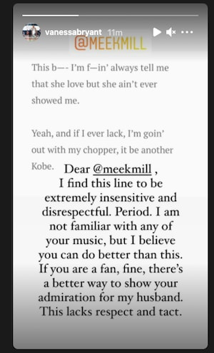 Vanessa Bryant Calls Out Meek Mill Over 'Disrespectful' Kobe Line | Complex