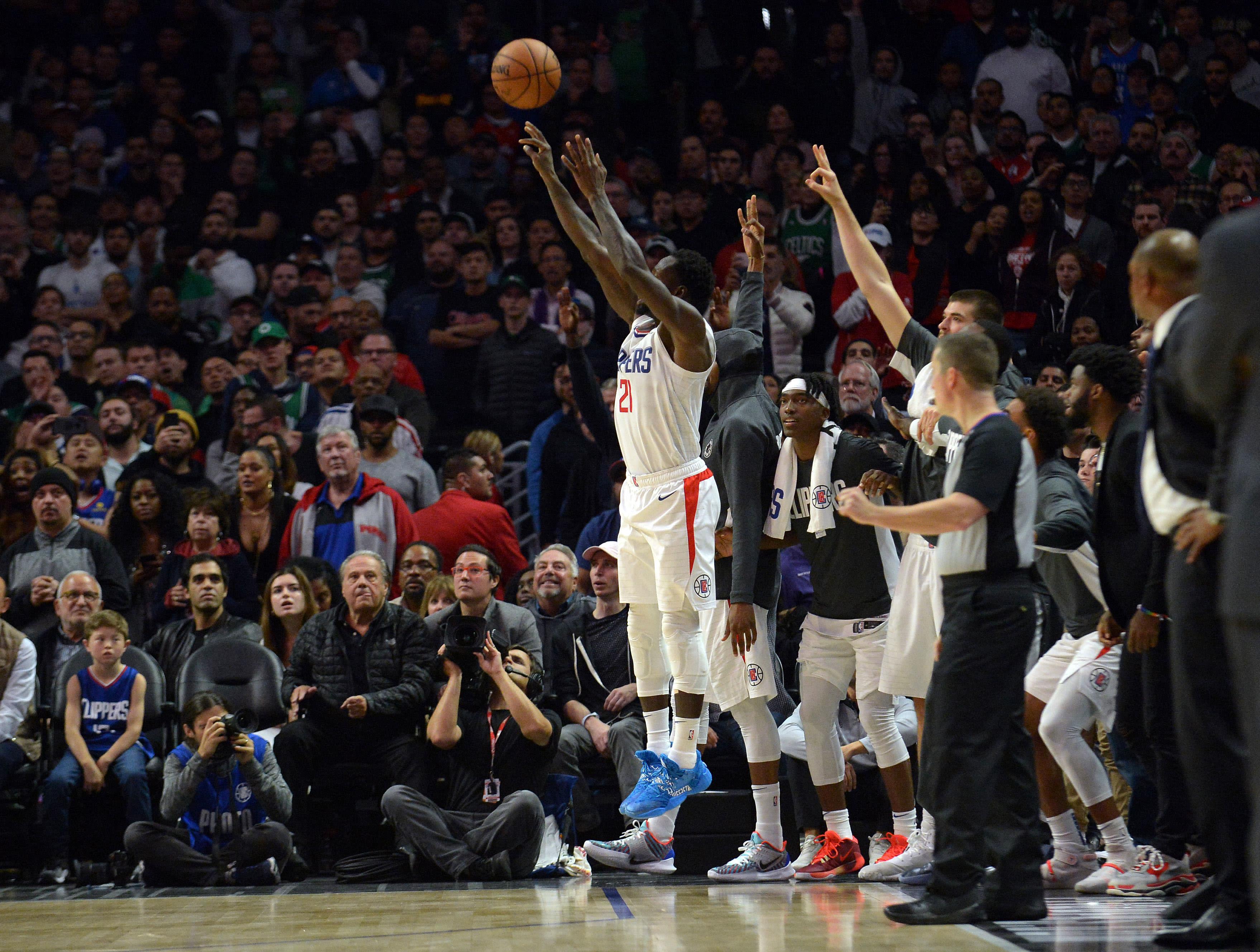 Patrick Beverley 3 Celtics Clippers Nov 2019
