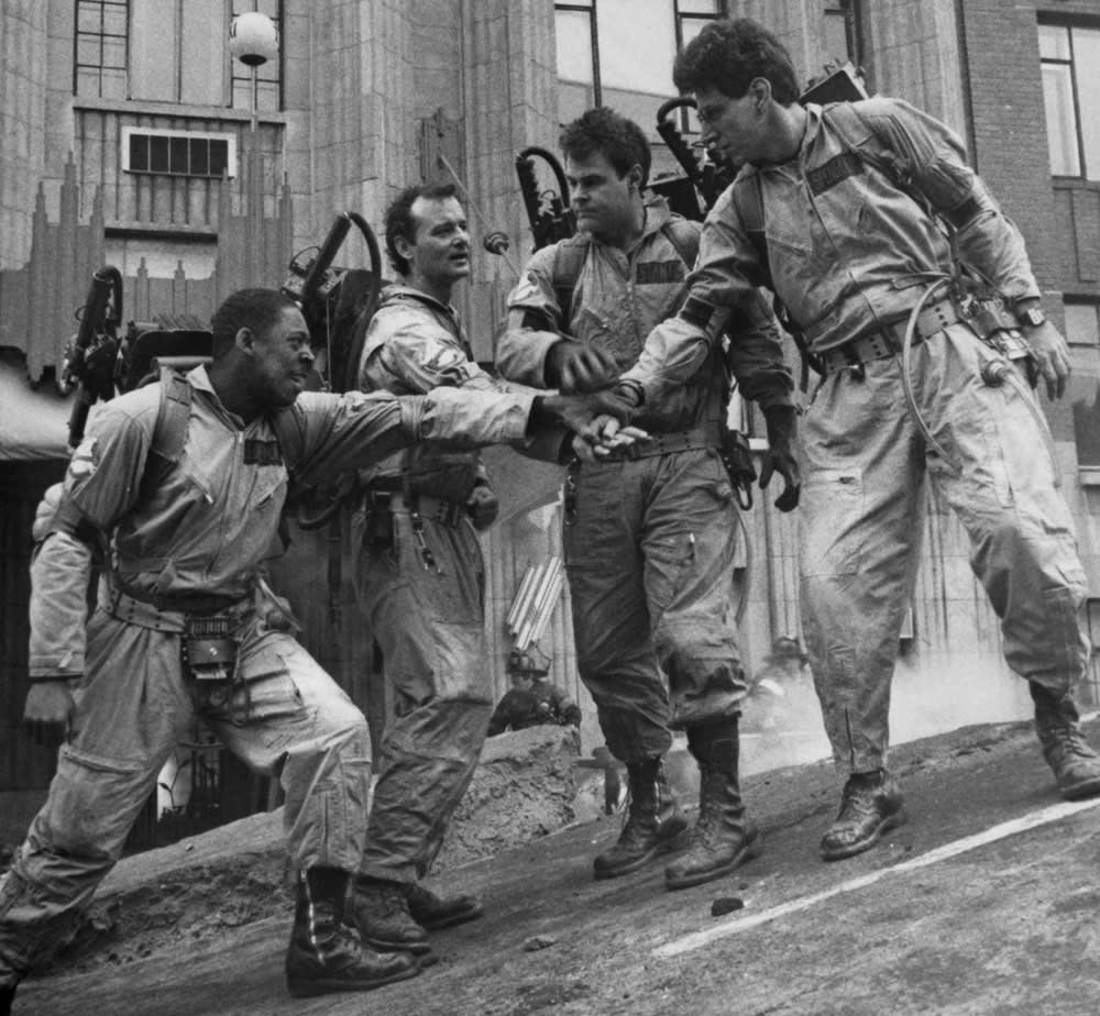 Ernie Hudson, Bill Murray, Dan Aykroyd and Harold Ramis in 'Ghostbusters'