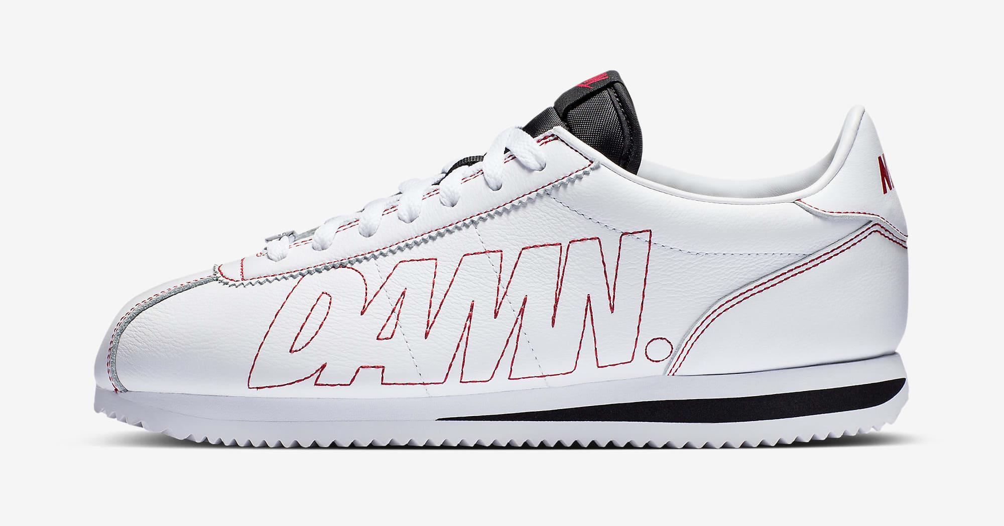 Kendrick Lamar Nike Cortez Kenny Damn AV8255-106 Profil