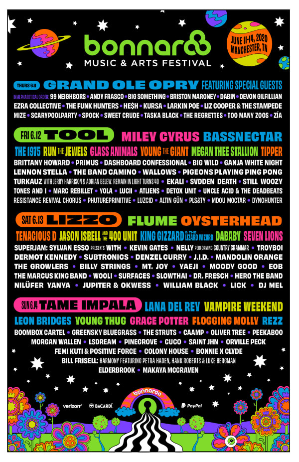 Bonnaroo 2019 dates and lineup are revealed, including