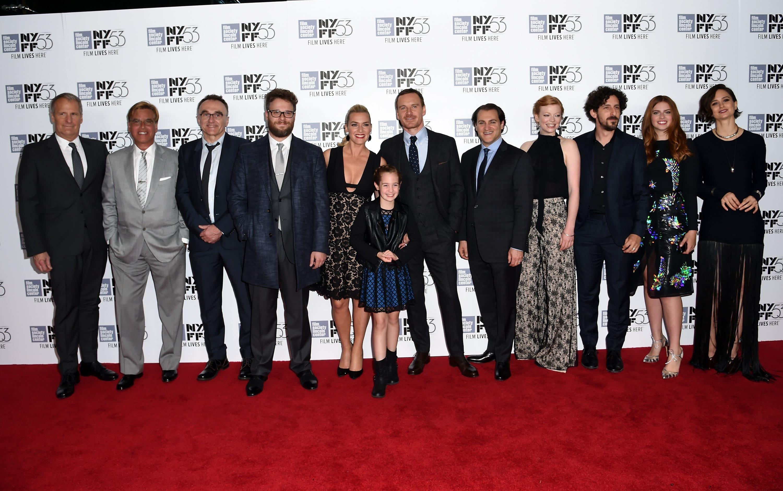Cast of 'sTeve Jobs' at the 53rd New York Film Festival