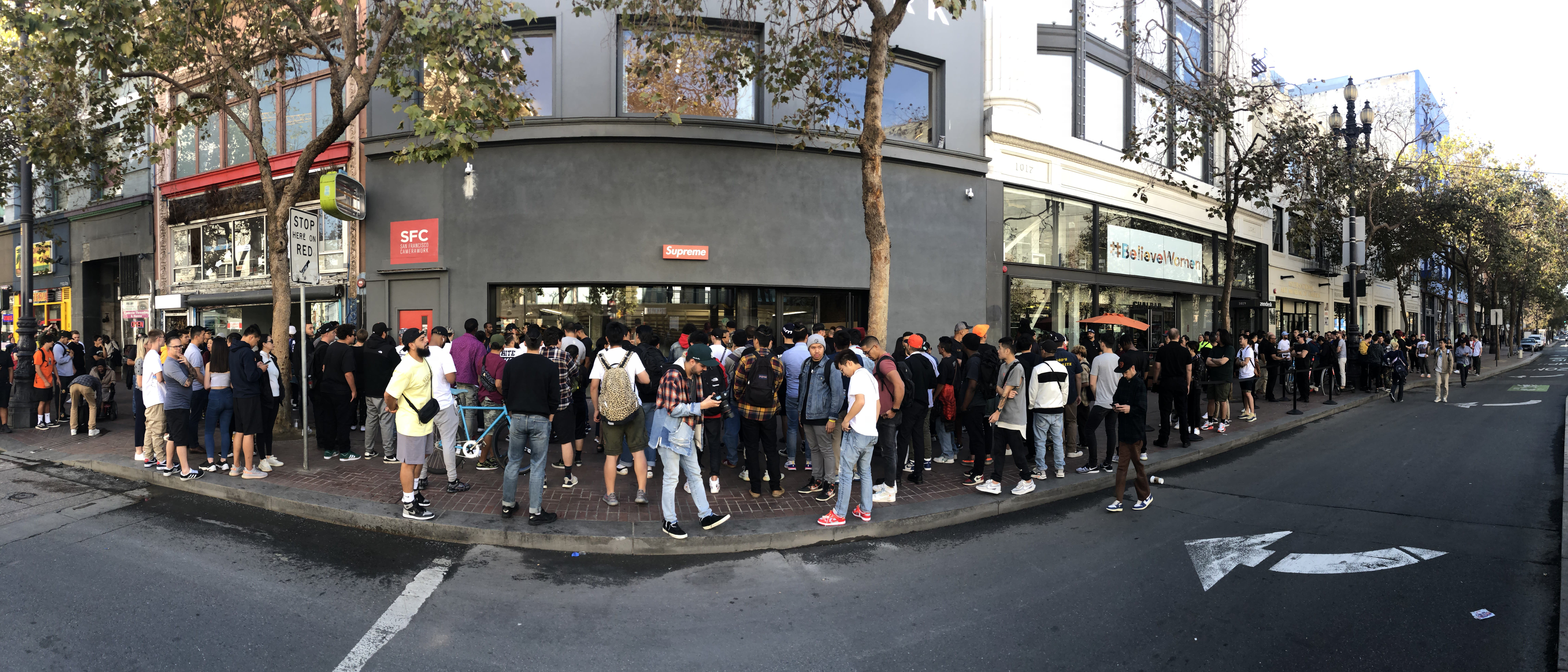 Supreme San Francisco Line Opening Day