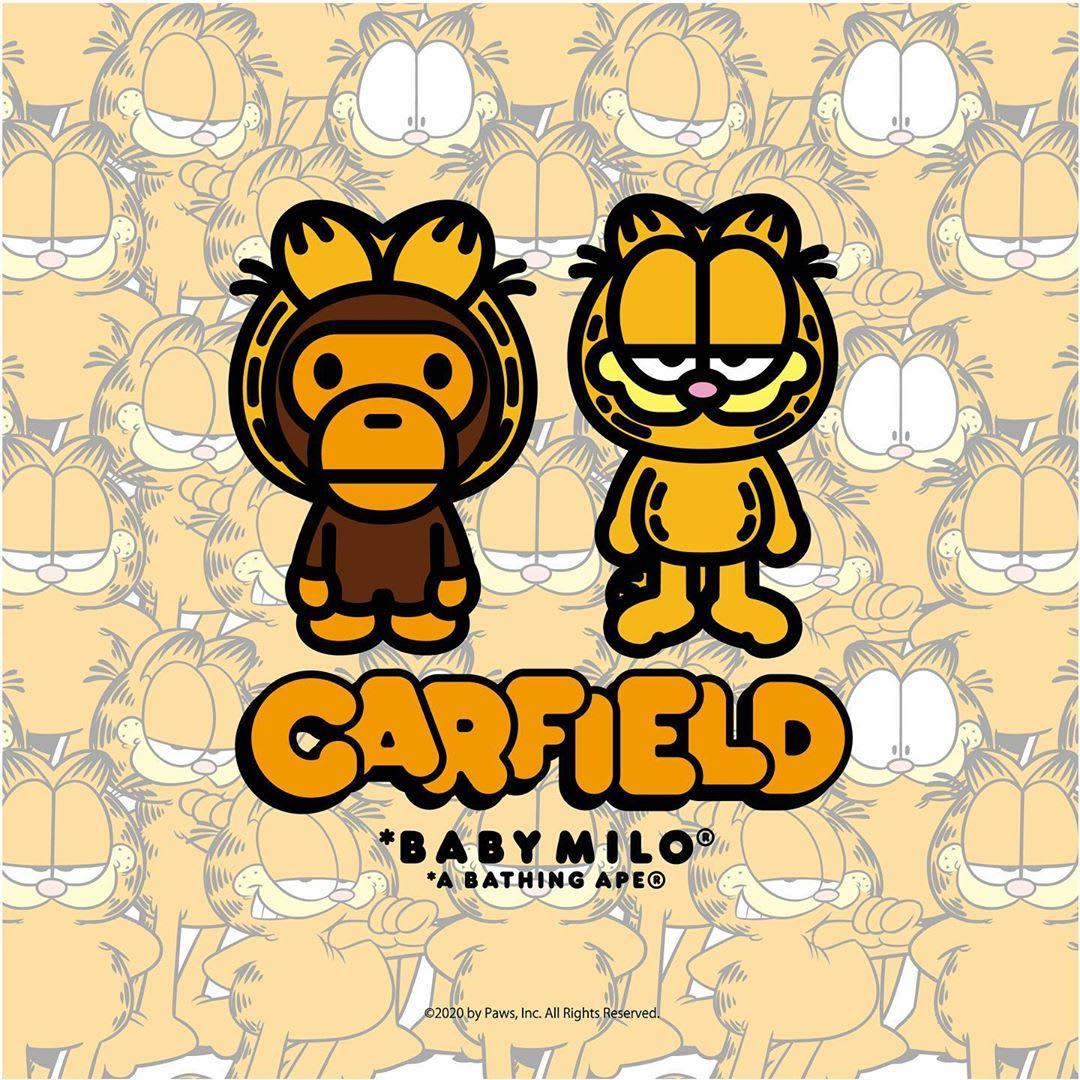 Garfield x Bape