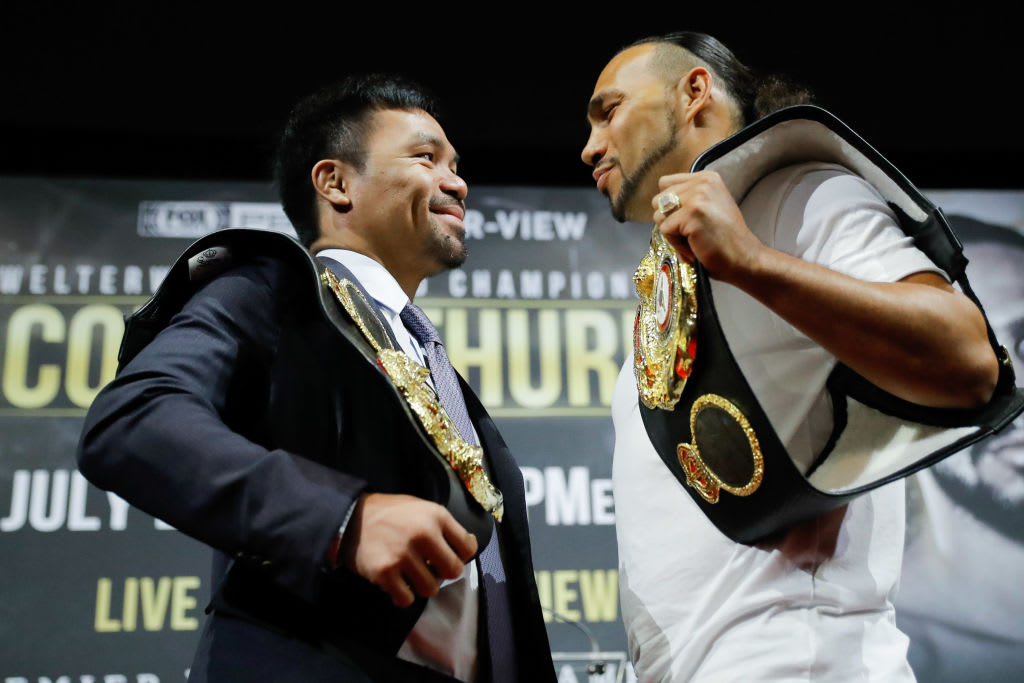 Manny Pacquiao Keith Thurman May Press Conf 2019