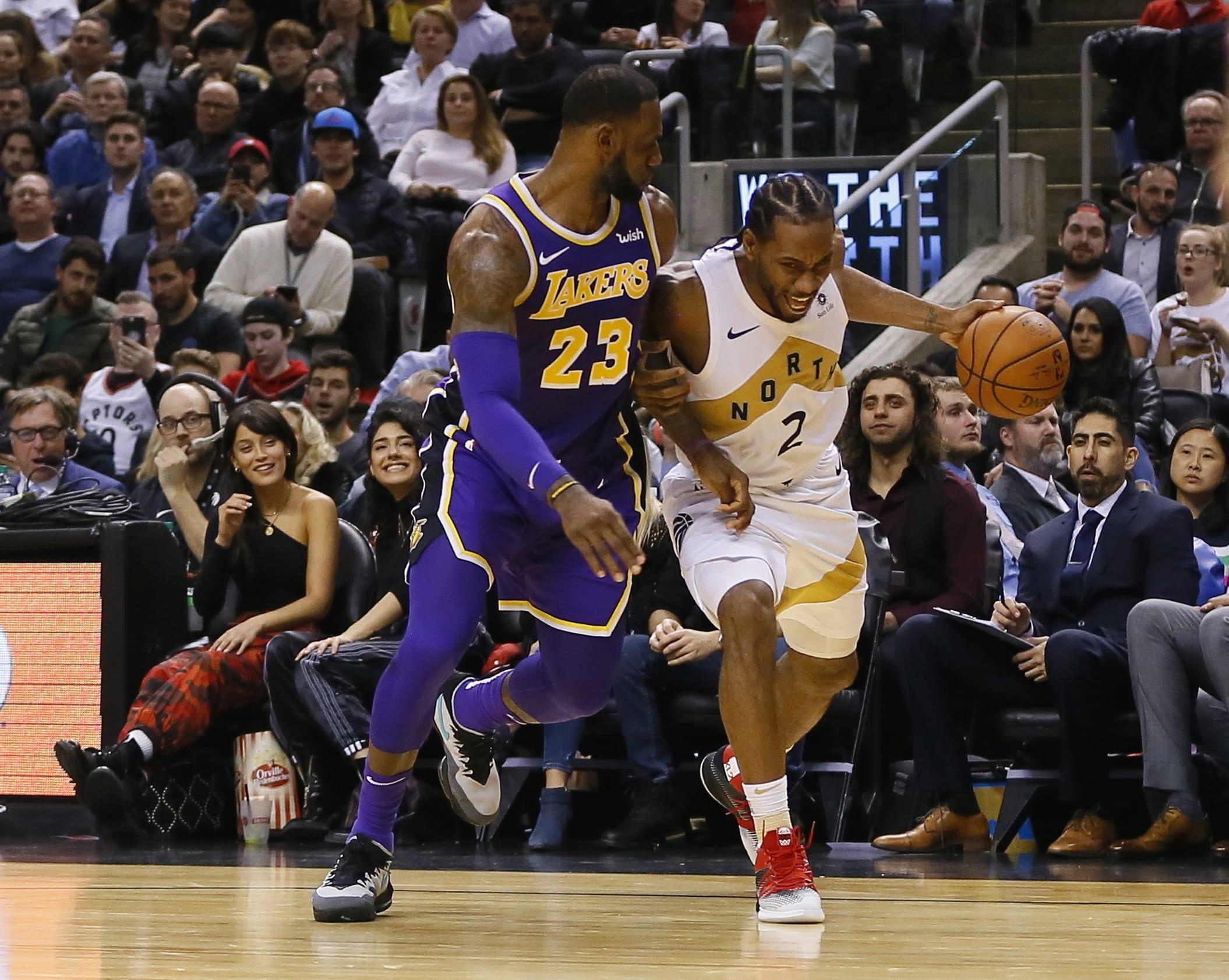 Kawhi Leonard LeBron James Raptors Lakers Toronto 2019