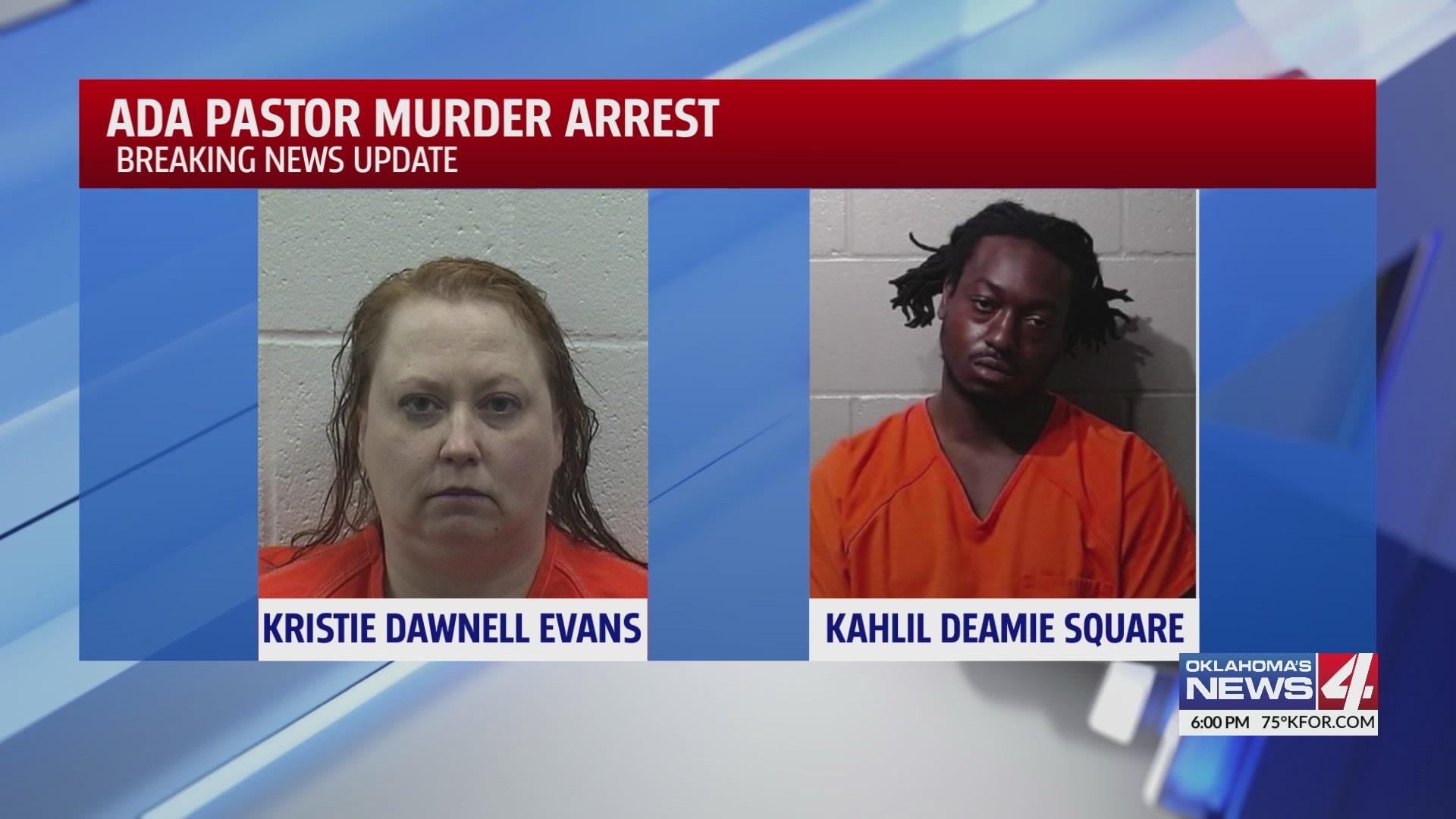 Kristie Evans and Kahlil Square arrested over the murder of pastor David Evans