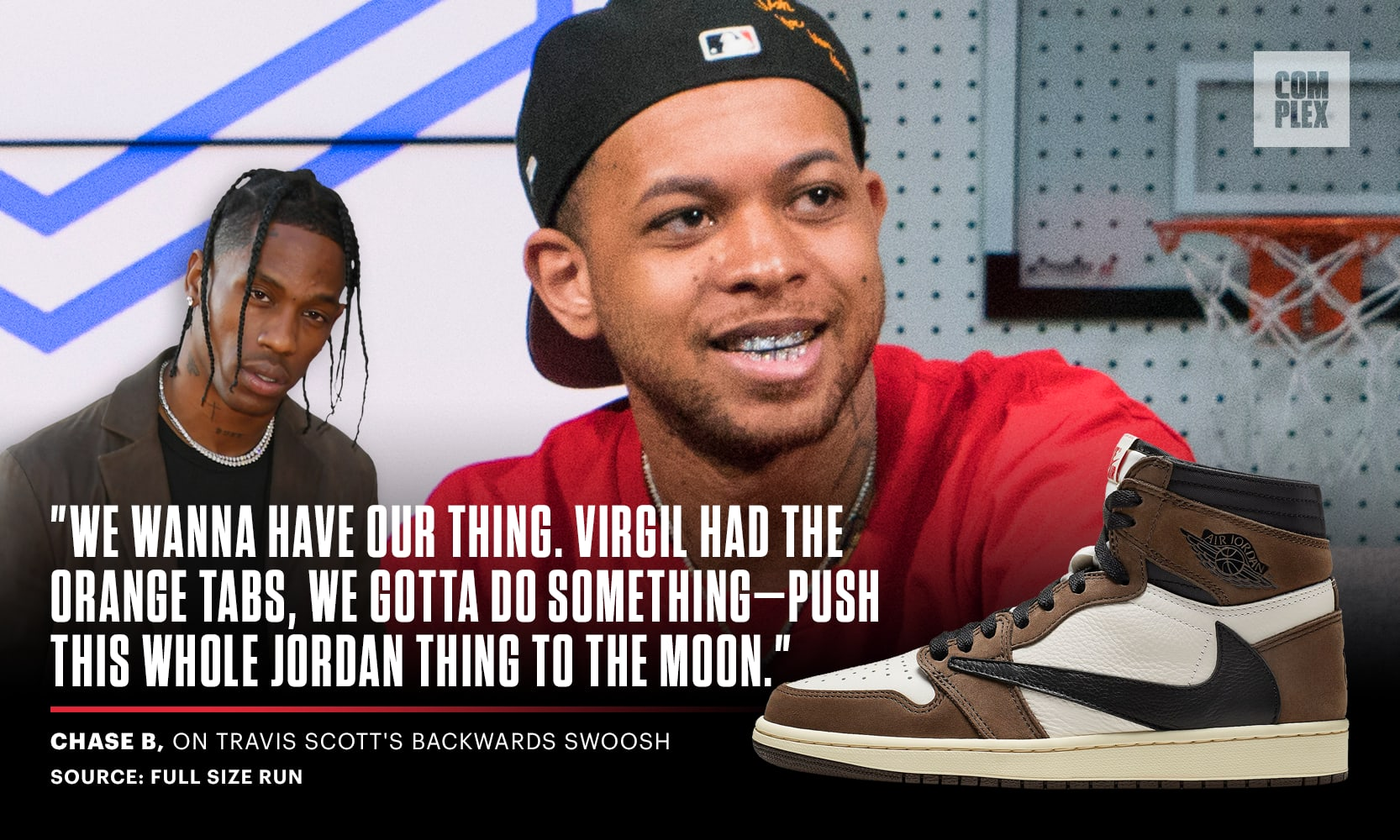 Chase B on Travis Scott's Backwards Swoosh