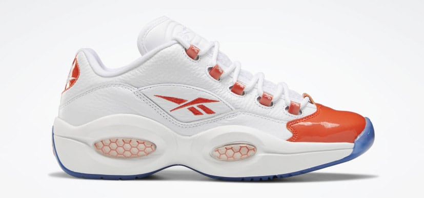 Reebok Question Low 'Patent Toe Orange'