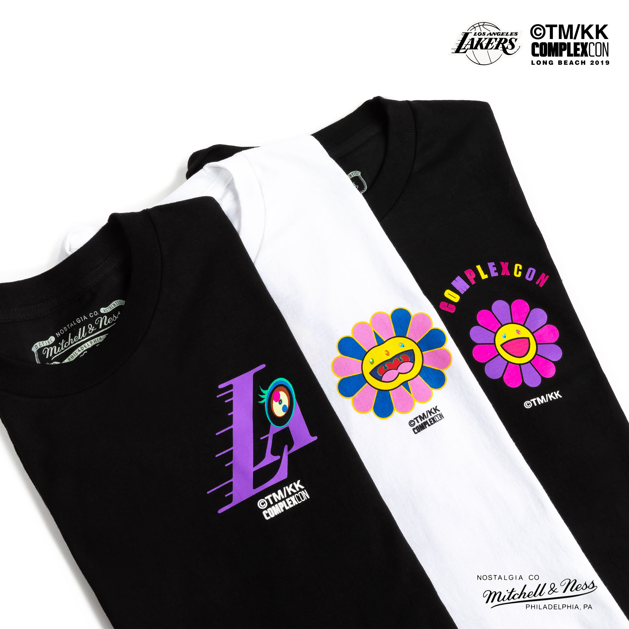 Complexcon Lakers Mitchell Ness Takashi Murukami T-Shirts