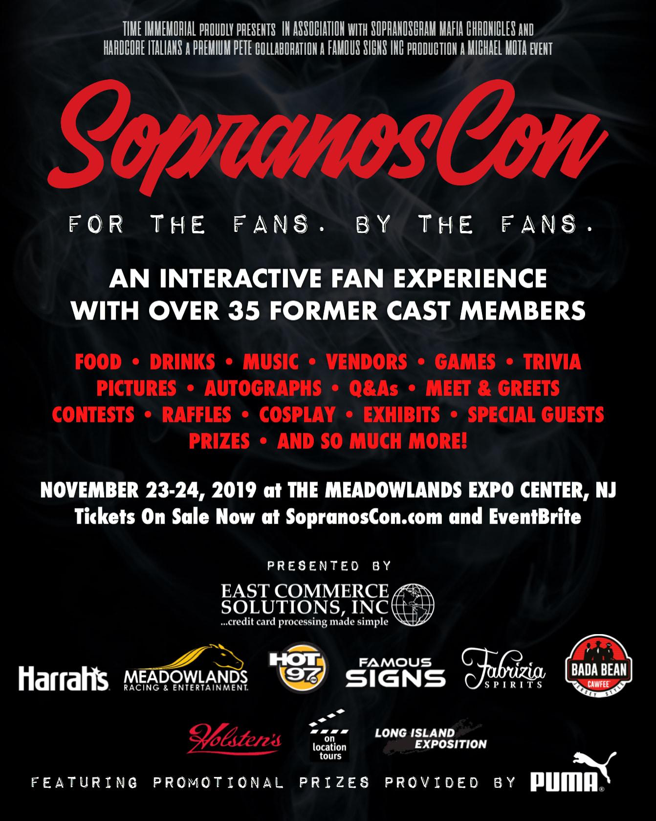 SopranosCon flyer