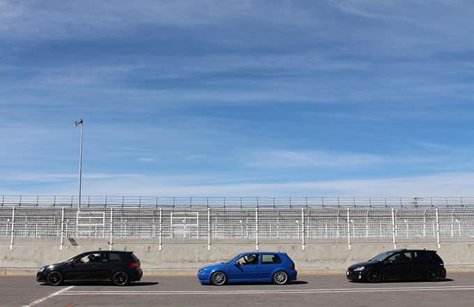 VW GTI on Track