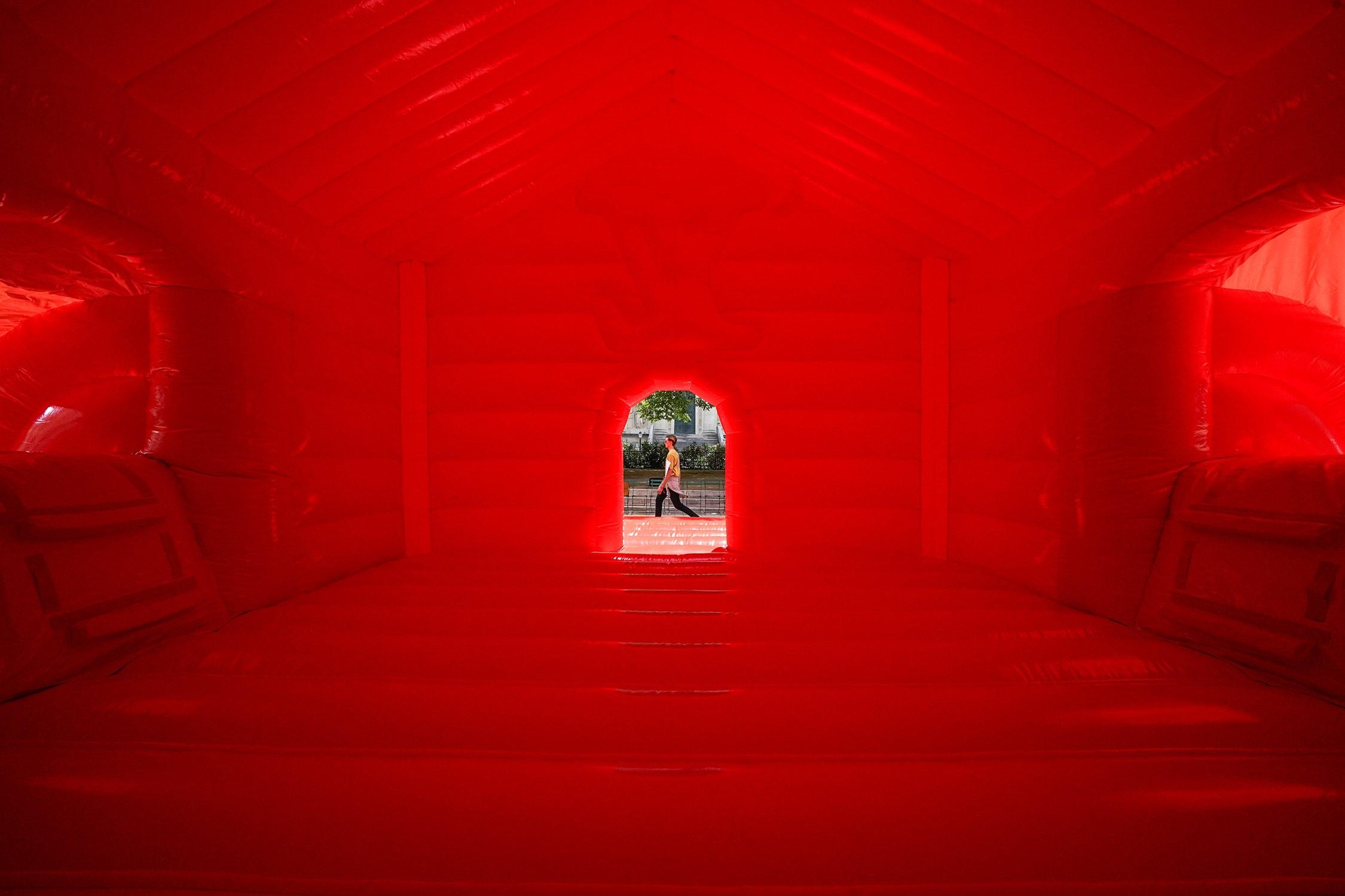Inside the Louis Vuitton Bounce Castle