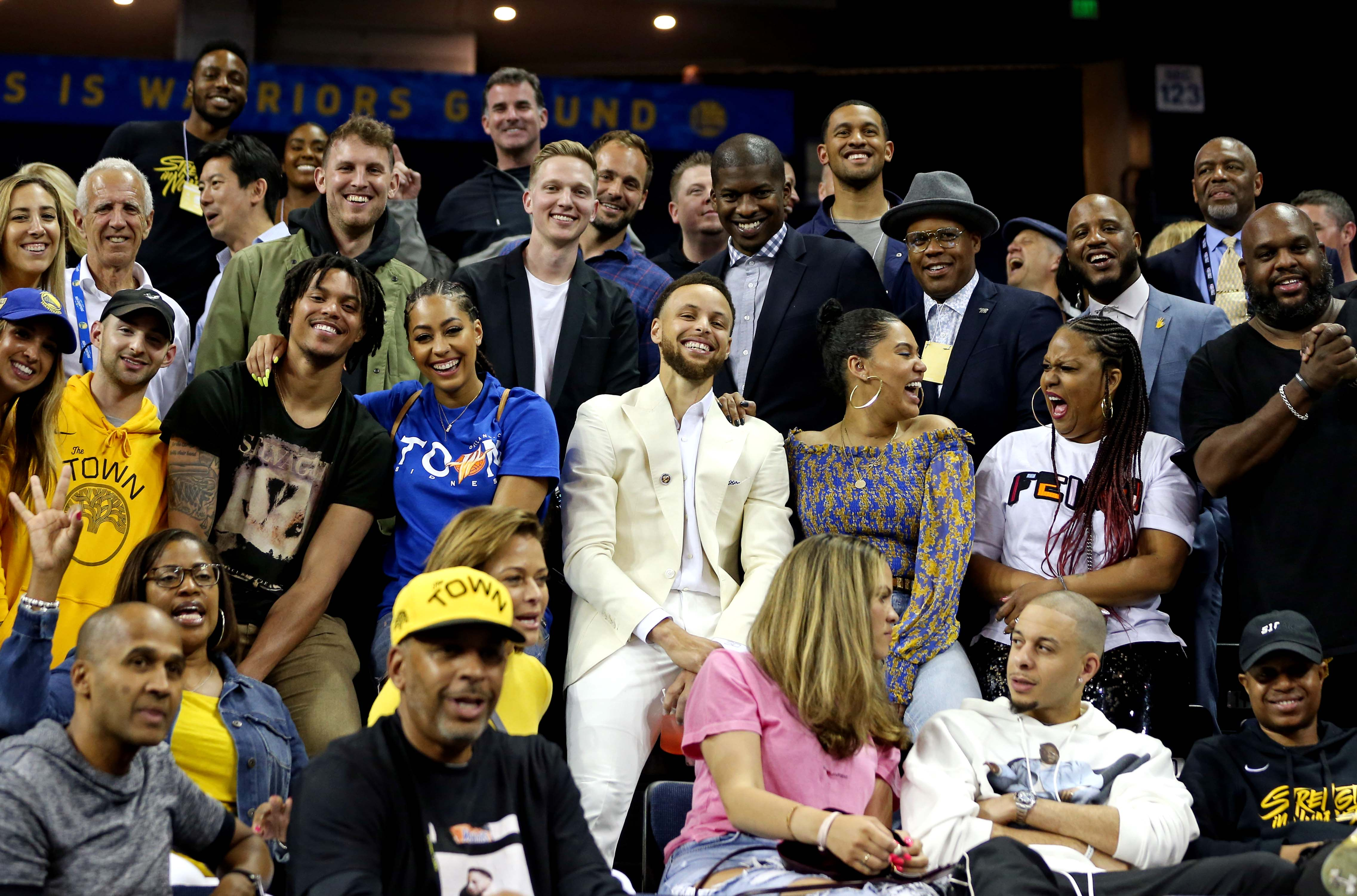 Steph Curry Family Oracle Arena Game 6 NBA Finals 2019