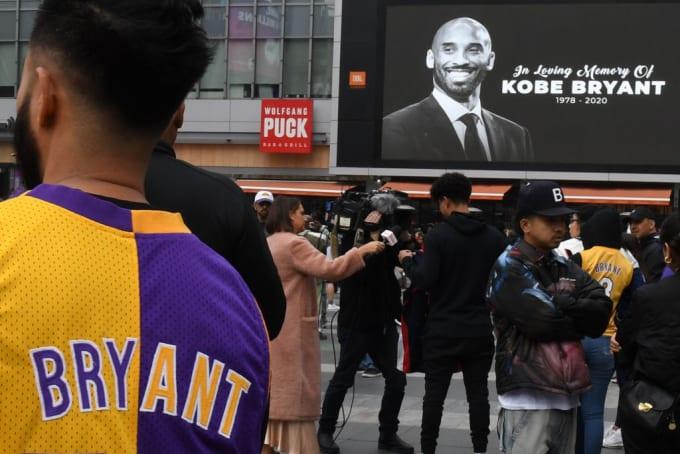 Kobe Bryant LA Live Jan 2020 Memorial