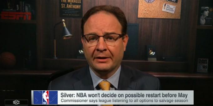 Adrian Wojnarowski ESPN Screen Shot 2020