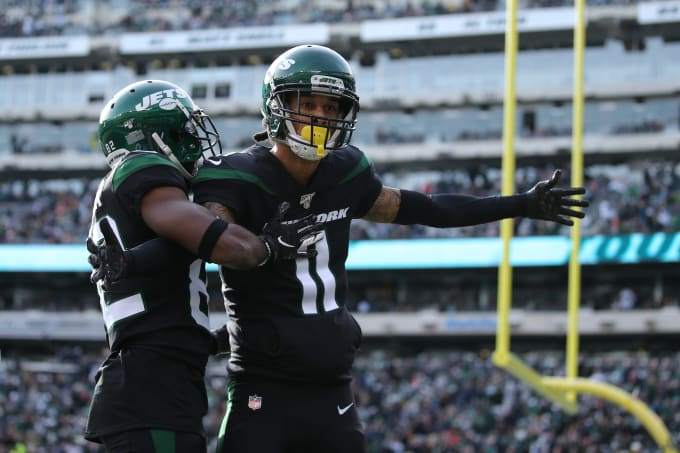 Robby Anderson Jets Dolphins Meadowlands 2019