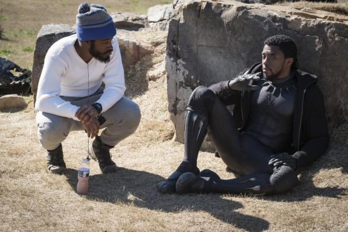 Ryan Coogler and Chadwick Boseman on the set of 'Black Panther'