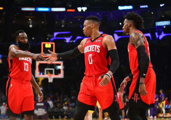 Harden Westbrook Covington Rockets Lakers Feb 2020