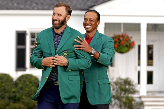 Dustin Johnson Tiger Woods Masters Jackets 2020