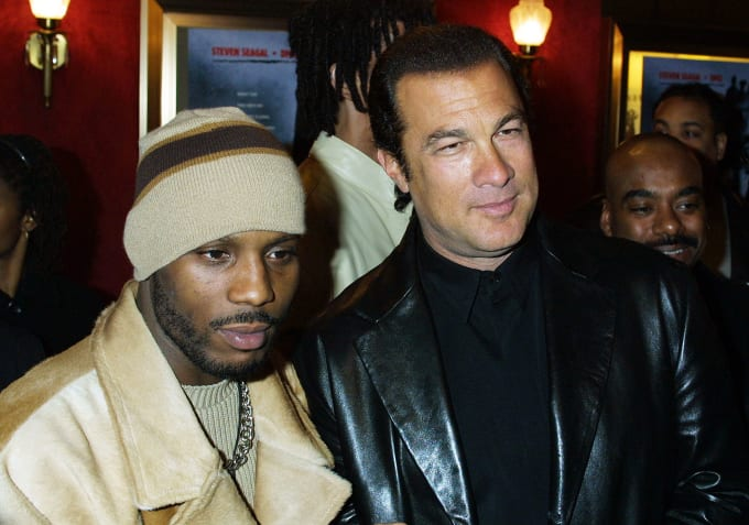 DMX and Steven Segal attend the premiere of Exit Wounds