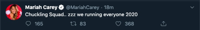 Mariah tweet