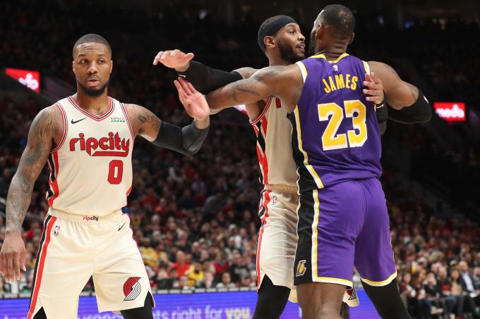Damian Lillard Carmelo Anthony LeBron James Portland 2019