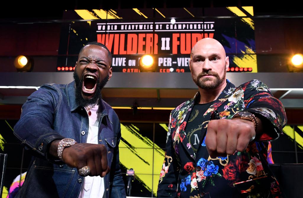 Deontay Wilder Tyson Fury LA Press Conf 2 Getty