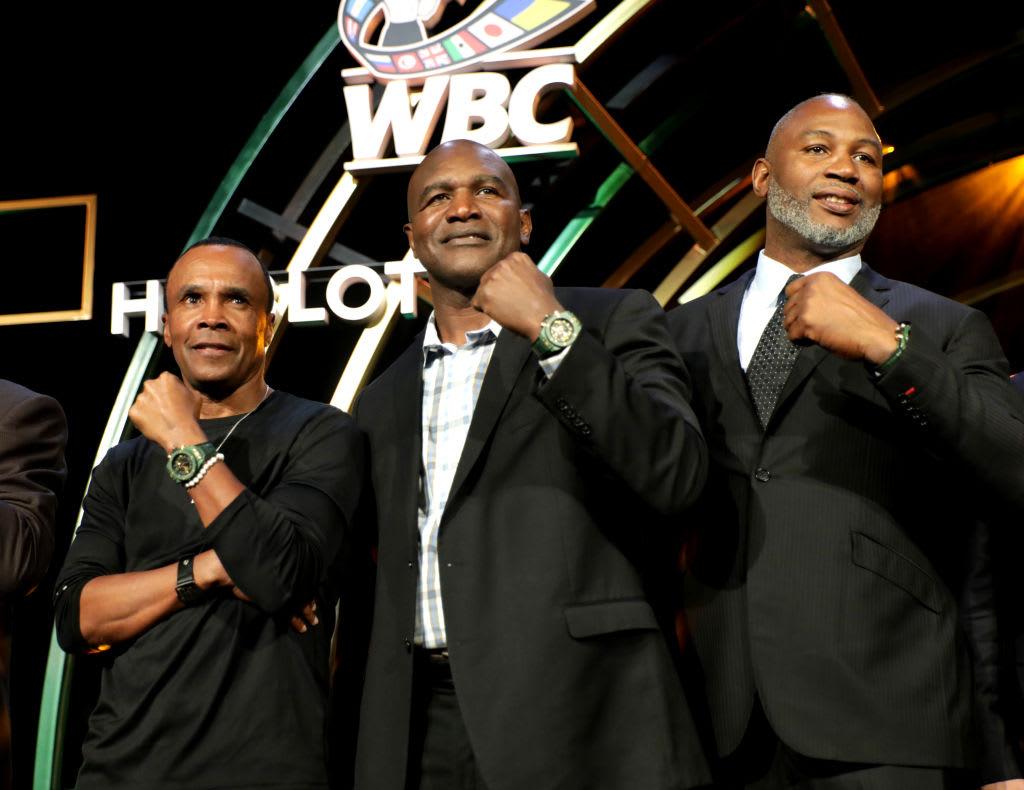 Sugar Ray Leonard Evander Holyfield Lennox Lewis Hublot WBC 2019 Getty