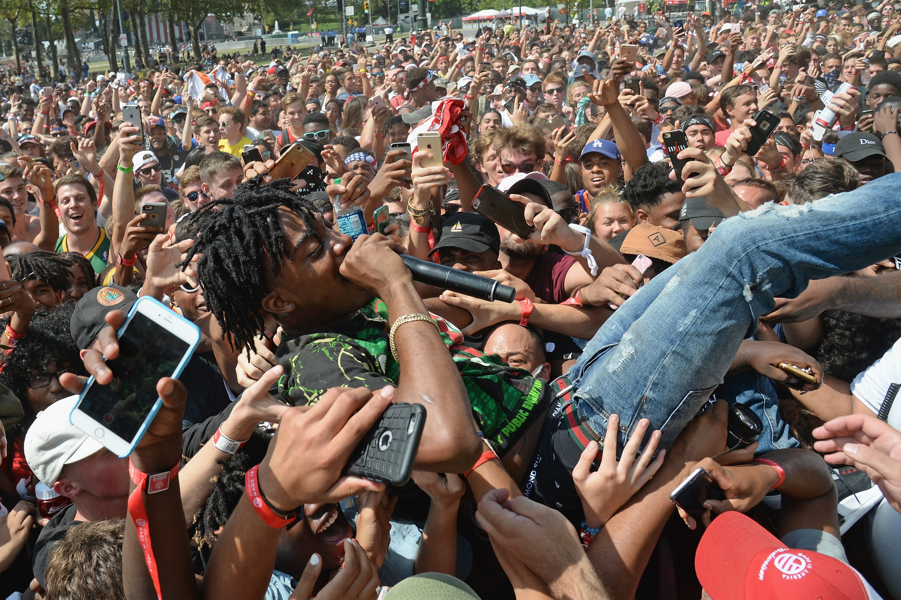Playboi Carti Crowdsurfing at Made In America Festival