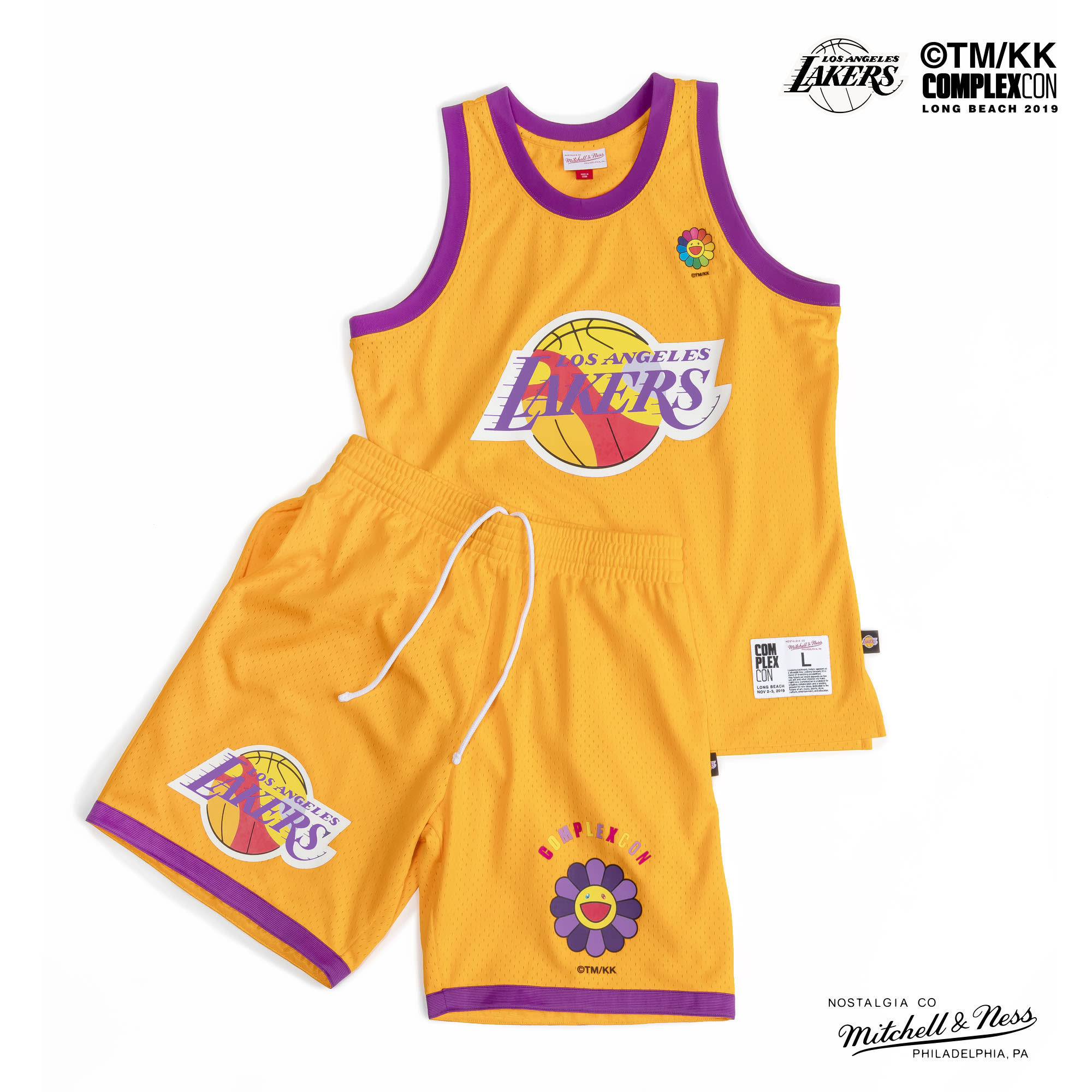 Complexcon Lakers Takashi Murukami Mitchell & Ness Jersey Yellow