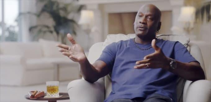 Screenshot of Michael Jordan and his watch during 'The Last Dance.'