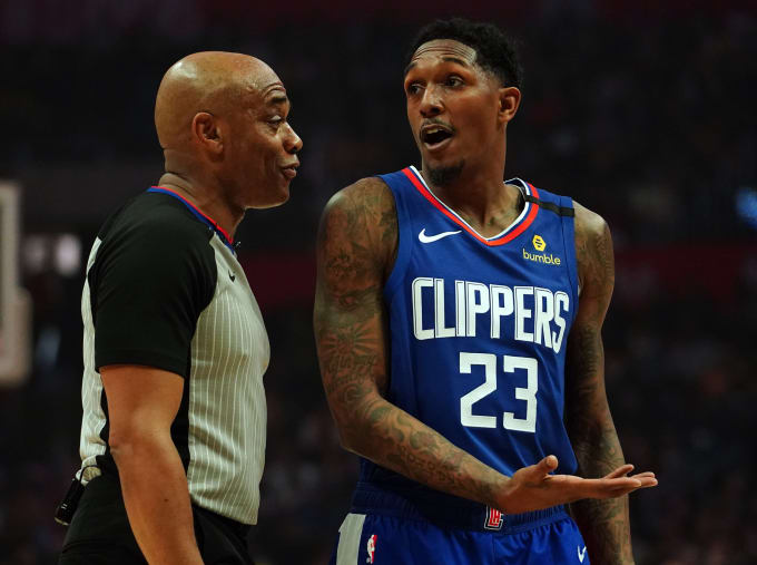 Lou Williams Referee Clippers Lakers 2020