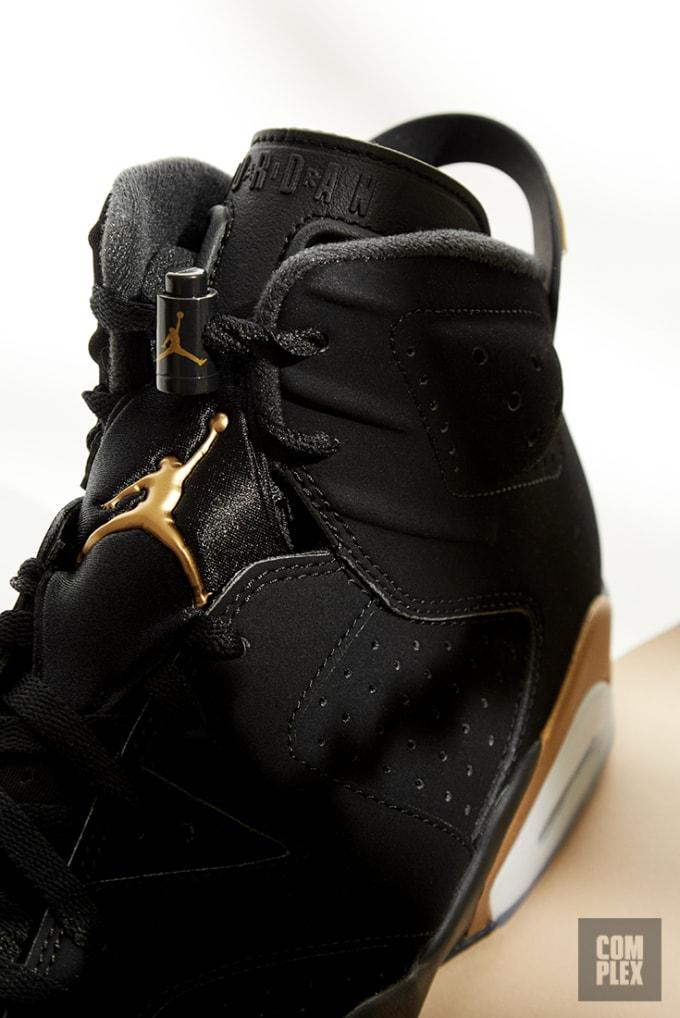 DMP Air Jordan 6 Retro 2020 Black Gold Tongue