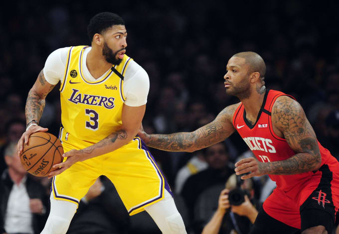 Anthony Davis PJ Tucker Lakers Rockets Feb 2020