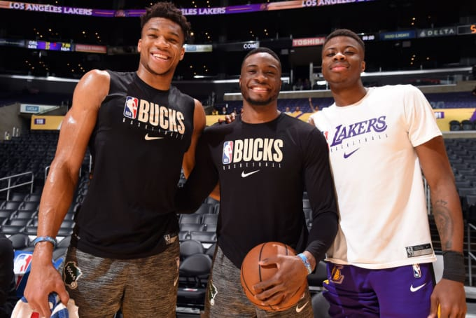 Antetokounmpo Brothers Staples Center March 2020