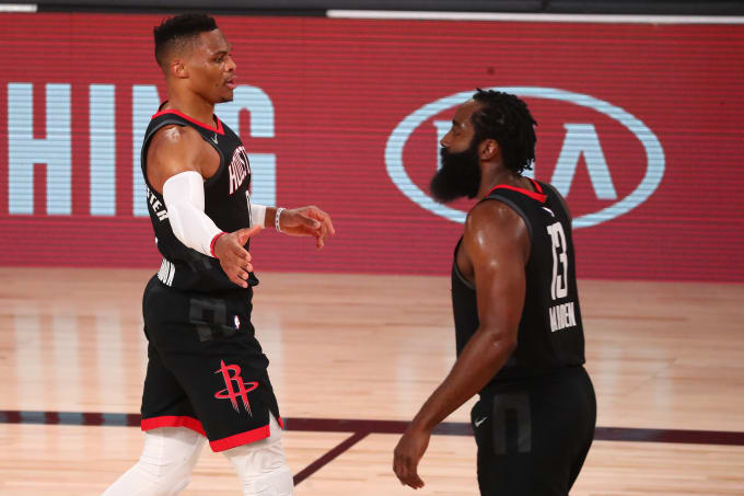 Russell Westbrook James Harden Rockets Lakers Bubble 2020