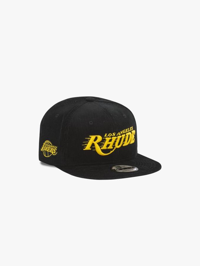 rhude-black-lakers-hat