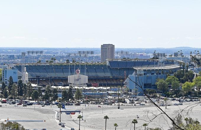 Dodger Stadium MLB Postponement 2020