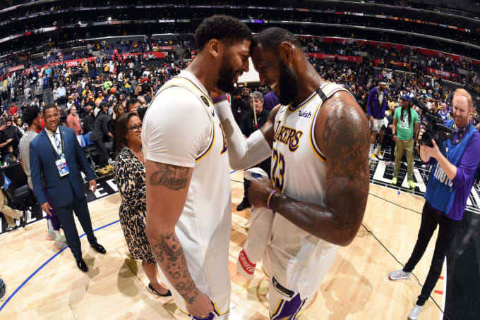 Anthony Davis LeBron James Clippers March 2020